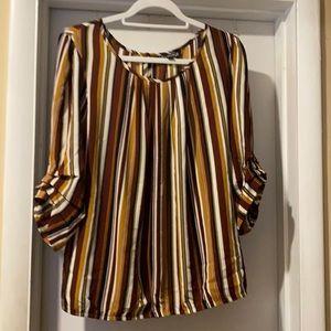 Sara Michelle Multicolor striped blouse